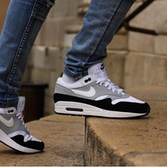 New Nike Air Max 1 Wolf Grey White Black Ah8145 003 Size 40 45 Price 135 Now Instore At Ozsneakerlab And Online At Www Impactshoes Com Nike N