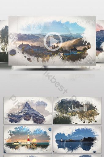 Ink Transition Photo Brochure Graphic Parallax Animation Ae Template Video Aep Free Download Pikbest Brochure Graphic Graphic Animation
