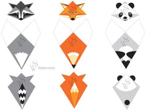 Animal Corner-bookmark PDF. Make them yourself. by naniduborgh                                                                                                                                                      Mais