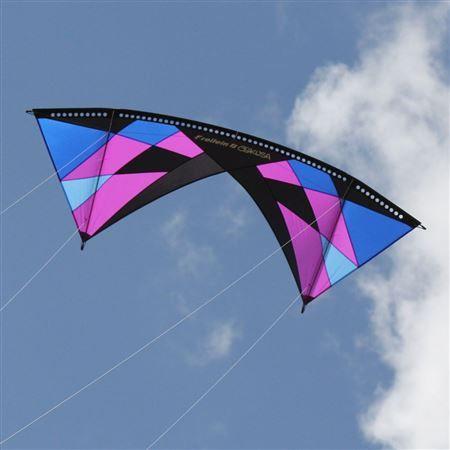 Red White Blue Vertigo Standard Quad Line Kite With Images