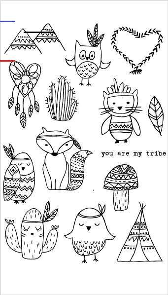 20213 You Are My Tribe Set Facile A Dessiner Gribouillages Artistiques Coloriage