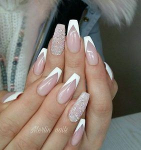 Gorgeous White Tip Nails | White Tip Nail Designs  #Whitetipnails #frenchnails #frenchmanicure #whitenails #frenchtipnails