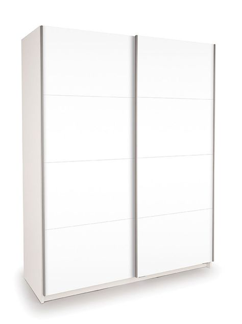 ideal white double high gloss white sliding wardrobe 150cm bedroom rh pinterest com