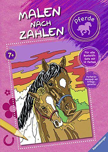 Malen Nach Zahlen Pferde Nach Malen Pferde Zahlen Malen Nach Zahlen Kinderbucher Bucher