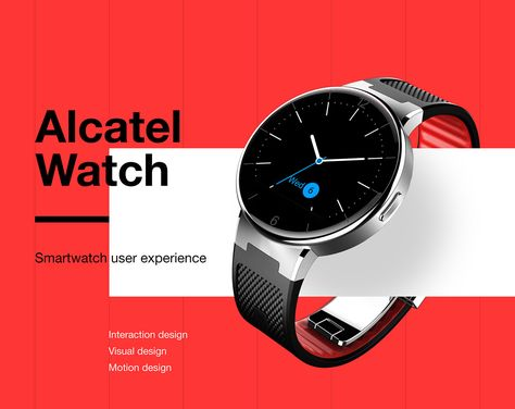 Alcatel Watch is affordable yet very capable smart watch with great battery life and support for both Android and iOS platforms. I was responsible for interaction, visual and motion design of the device. We have created a custom OS from the ground up in h Visual Design, Web Design, Layout Design, Design Lab, Design Concepts, Sketch Design, Design Ideas, Smartwatch, Interaction Design