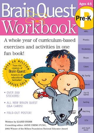 Cover Of Brain Quest Workbook Pre K Pre K Workbook Kindergarten Workbooks