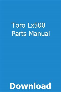 Toro Lx500 Wiring Diagram from i.pinimg.com