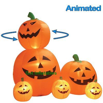Animated Party Halloween Inflatable Pumpkins Yard Air Blown Decoration Prop New