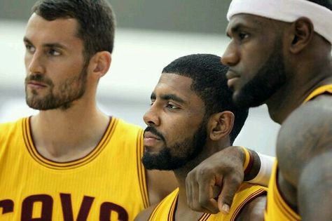 Kevin Love , Kyrie Irving And LeBron