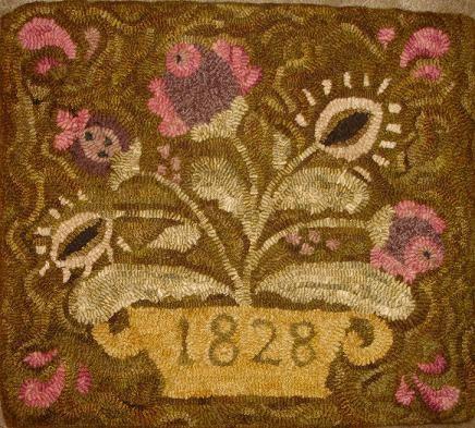 1828 Floral Rug Hooking Patterns