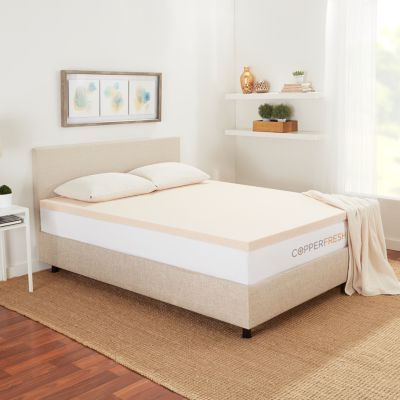 Copperfresh Copperfresh Full 2 Gel Memory Foam Mattress Topper