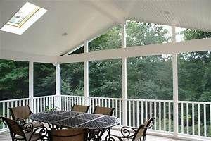 White Screened Porch Interior Beadboard Ceiling Beadboard Ceiling Porch Interior Cheap Ceiling Ideas