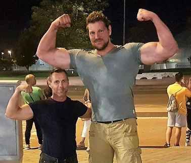 Tall and muscular
