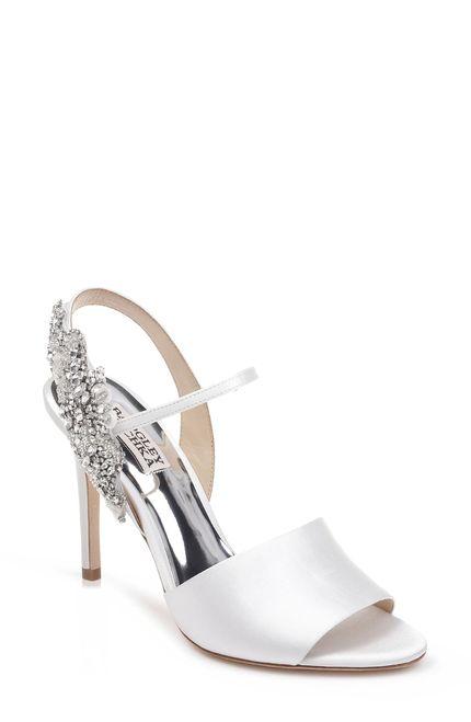 Embellished sandals, Bridal shoes
