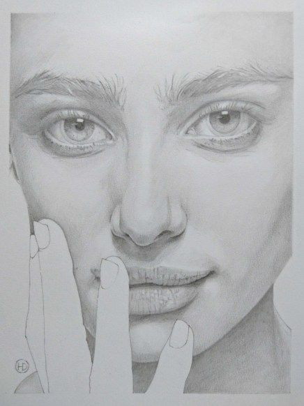 Taylor Marie Hill Art Drawings Sketches Portrait Drawing