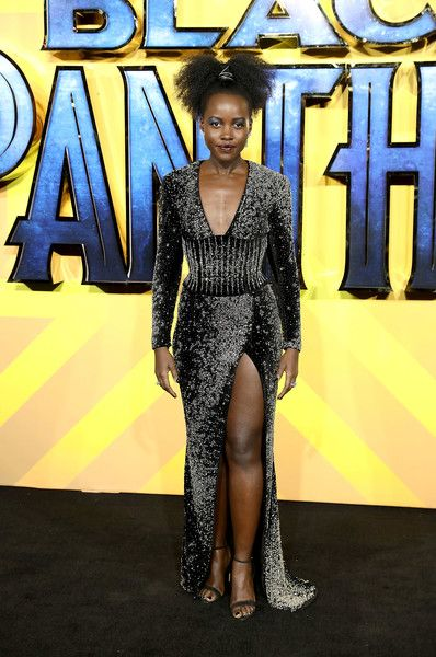 Lupita Nyong'o attends the European Premiere of 'Black Panther.'