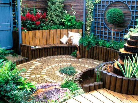 Sichtschutz Im Kleingarten Mit Bambus Zaun Grunes Pinterest