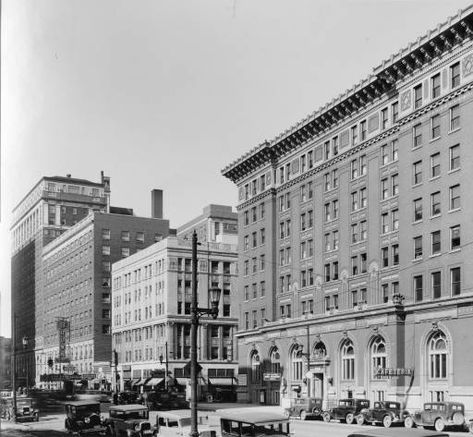 C 1932 View Of North Side Of 200 And 300 Blocks Of West Broadway