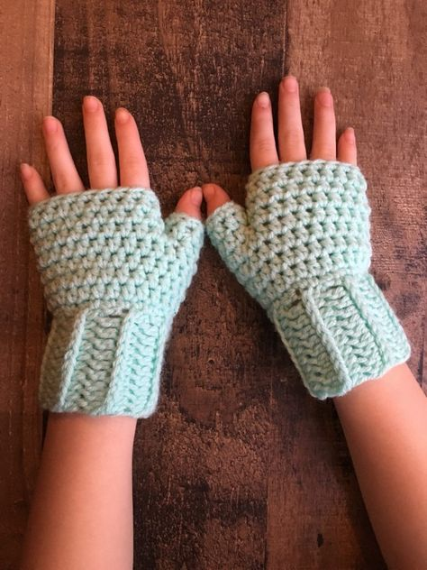 Woodland Fingerless Mittens Crochet Pattern Adult And Child Sizes