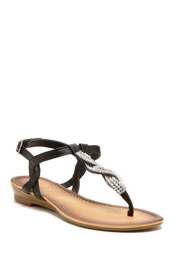 41a81cfb11ec 29841 £6.49 www.shoezone.com irls Silver Toe Post Sandal with ...