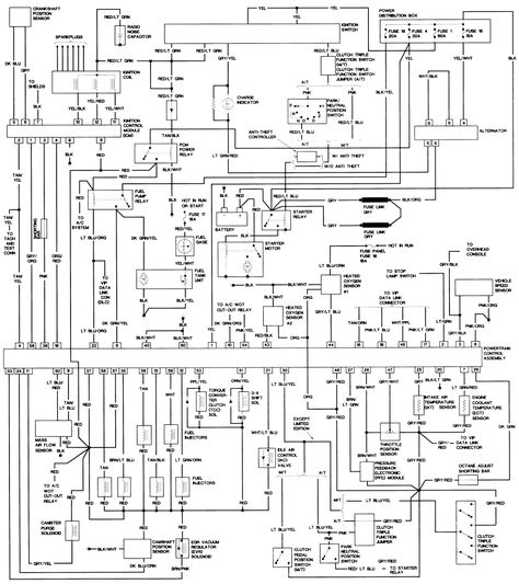 1992 Ford Explorer Wiring Diagram in 2020 (With images