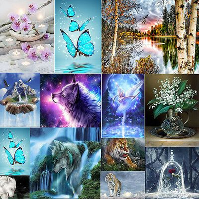 DIY 5D Diamond Painting Embroidery Cross Crafts Stitch Kit Home Wall Decor