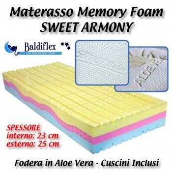 Materasso Memory Foam Baldiflex.Materasso Sweet Armony Baldiflex Con Rivestimento In Aloe Vera O