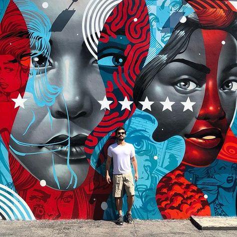 "Ideias Diferentes on Instagram: ""Conferindo as paredes mais famosas de Miami. @wynwoodwallsofficial 💛 #ideiasdiferentes"""
