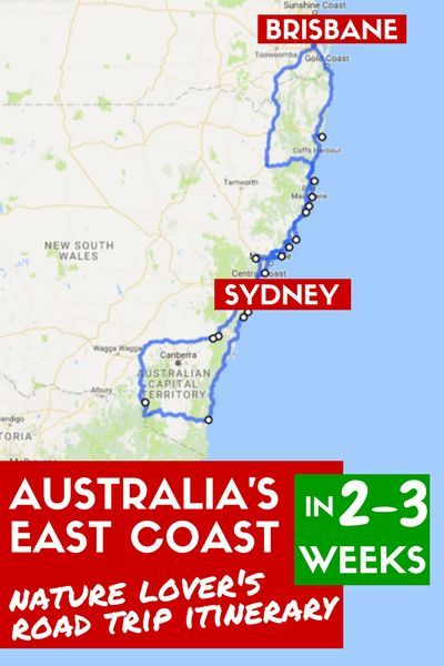Australia S East Coast Road Trip Itinerary For Nature Lovers Skip The Cities To Hike See Wildlife And Dive Coast Australia Road Trip Australia Travel Guide