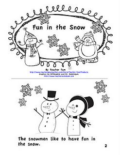 FREE Sight Word Emergent Reader for Winter