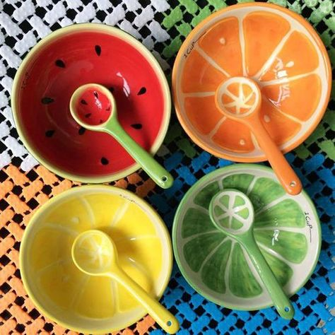 Ideas Fruit Bowl Ceramic Clay For 2019 Ceramic Clay, Ceramic Bowls, Ceramic Pottery, Clay Projects, Clay Crafts, Arts And Crafts, Pottery Painting, Ceramic Painting, Fruit Painting