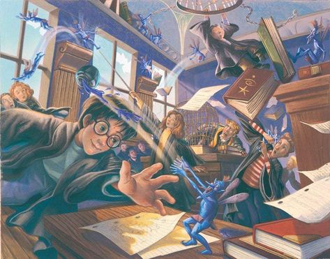 Harry Potter Pixie Mayhem Mary GrandPre SIGNED Giclee on Fine Art Paper Limited Edition of 250