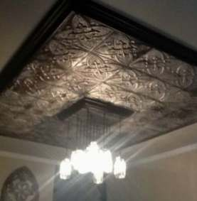 27 New Ideas For Kitchen Backsplash Tile To Ceiling Light Fixtures Tin Ceiling Tin Tiles Kitchen Island Decor