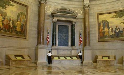 National Archives - Washington, D.C. - saw Magna Carta, Declaration of Independence, Constitution and Bill of Rights all here!
