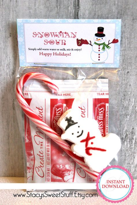 Snowman Soup Bag Topper  DIY Printable INSTANT by  www.StacysSweetStuff.Etsy.com