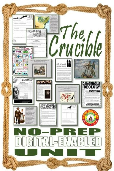 The Crucible Teaching Resources American Literature Lessons Resource Classroom Literature Lessons