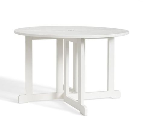 Hampstead Painted Round Drop Leaf Dining Table White Outdoor