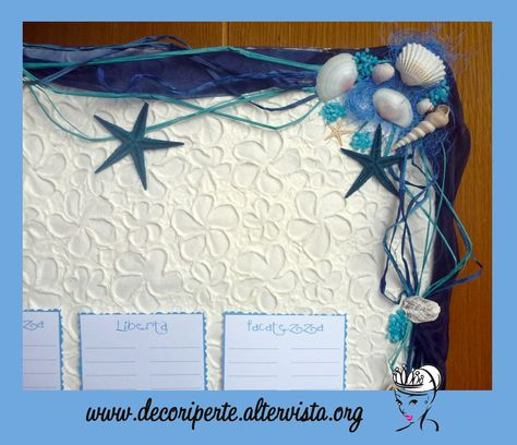 """BLUE SEA"" WEDDING THEME - Seating Plan + Place Cards - TABLEAU MARIAGE TEMA ""MARE"" BLU E SEGNAVOLO -"