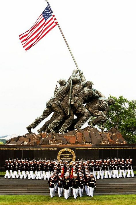 US Marine Corps War Memorial. My retirement flag was flown here. Once A Marine, Marine Mom, Us Marine Corps, Marine Corps Birthday, I Love America, God Bless America, The Few The Proud, My Champion, Support Our Troops