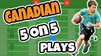 Canadian Flag 5 On 5 Football Plays Flag Football Plays