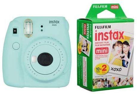 Amazon Com Fujifilm Instax Mini 9 Ice Blue Instant Camera With