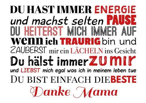Danke Mama   Muttertag   Echte Postkarten online versenden   MyPostcard.com
