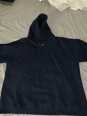 Vintage Nike Center Logo Swoosh Hoodie Navy Size Xl In 2020 Mens Activewear Hoodies Men Hoodies