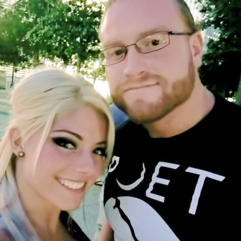 WWE Superstar Alexa Bliss (Alexis Kaufman) and her fiance WWE NXT star Buddy Murphy (Matthew Adams) #WWE #TotalDivas #wwecouples #wwewives #wwewags