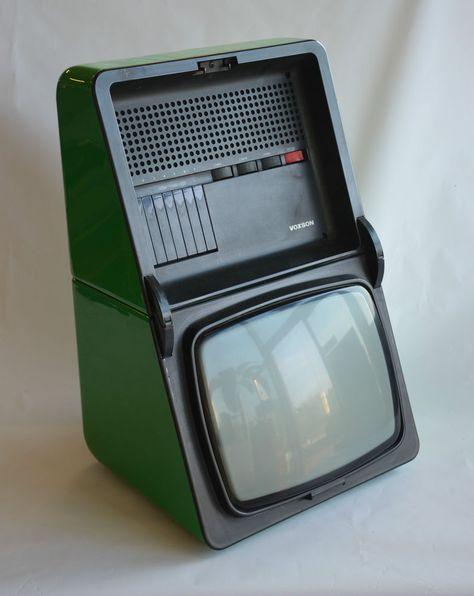 TELEVISORE VOXSON - T1228 - OYSTER - anno 1975 - design RODOLFO BONETTO