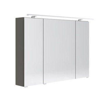 Armoire De Toilette Lumineuse L 100 Cm Gris Opale Leroy Merlin Armoire De Toilette Armoire Douche Italienne