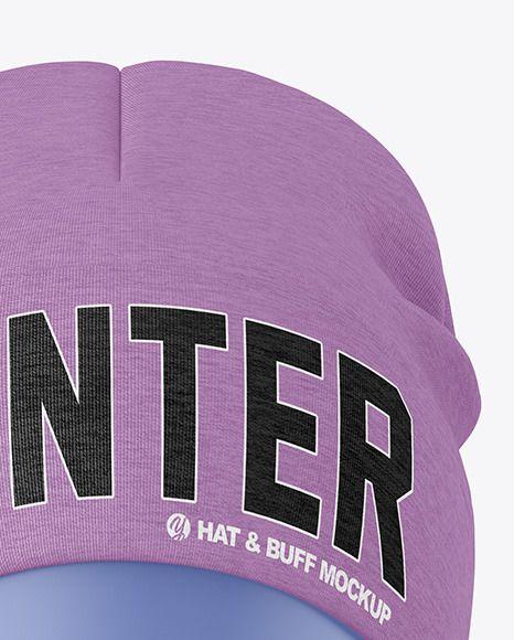 Download Melange Winter Hat Buff Mockup In Apparel Mockups On Yellow Images Object Mockups In 2021 Clothing Mockup Winter Hats Apparel