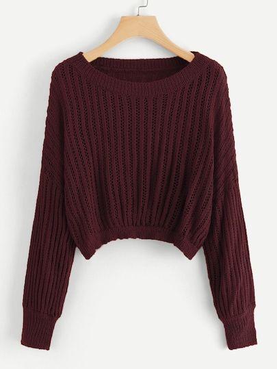 Shop Drop Shoulder Ribbed Jumper online. ROMWE offers Drop Shoulder Ribbed Jumper & more to fit your fashionable needs.
