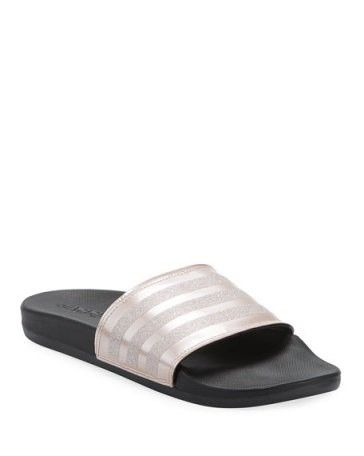 adidas glitter sandals