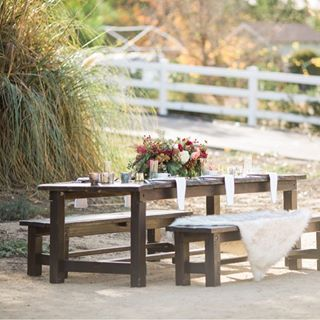 Rentals Rustic Events Rustic Wooden Bench Farmhouse Picnic Table Rustic Style Wedding